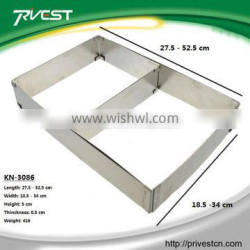 Universal Stretch Rectangular Stainless Steel Cake Mould