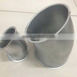 Modular ductwork fittings pressed bend with lip 6mm for dust collection