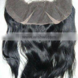 """Top quality 14"""" natural wave 13""""*4"""" Indian remy human hair lace frontal"""