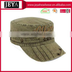Character Style and Adults Age Group Soft Textile Green Washed Army Cap