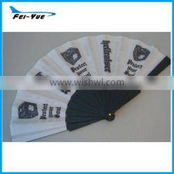 Promotion Gifts Customized logo White Plastic Hand fan