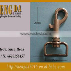 Most popular bag parts solid brass snap hook Quality Choice