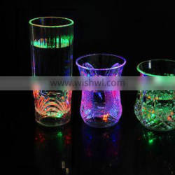 Edgelight flashing led plastic cup decorative made in china
