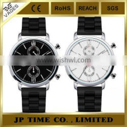 Gents' Chronograph Dive Sports Waterproof Stainless Steel rubber strap watch