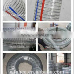 pvc stainless steel wire braiding flexible hose