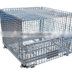 RH-C-U03 Steel Stacking Wire Container With Top Cap, Mesh Container