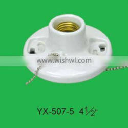 E27 Ceiling Porcelain Lampholder with Switch YX-507-5