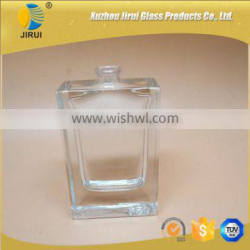 35ml square clear glass perfume bottles with sprayer