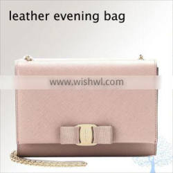 Fashion ladies woman evening bag in cow leather