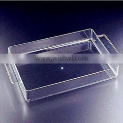 Pure fashionable clear acrylic serving trays