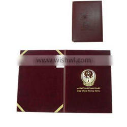 top sale leather certificate holders for students/employees