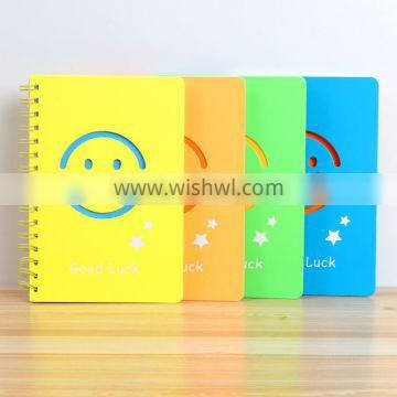 A5 cheap student notebook customizable spiral planner hollow card paper cover organizer printing