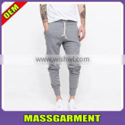 High Quality Custom blank fit Cotton Polyester men jogger skinny sweatpants