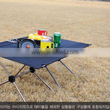 Ultra-light, collapsible outdoor table for camping, bankpacking with