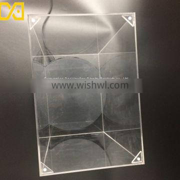 Custom acrylic frosted gift box with lid clear case jewelry boxes with magnet