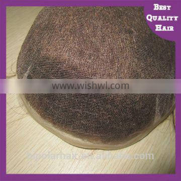 Qingdao Bipolar High Quality Bleached Knots Toupee with Swiss Lace, Reasonable Price