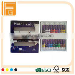 12 ml 18 colors professional water color for art