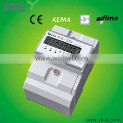 Three phase four module electricity energy meter