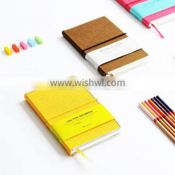 A5 Faux leather cover notebook customizable hardcover office notebook metal lipping notebook with band