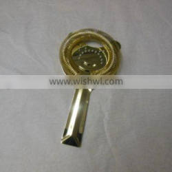 2-prongs stainless steel cocktail bar ice strainer with gold plated