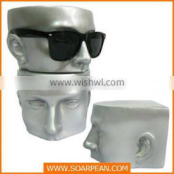 Fiberglass High Glossy Head Mannequin For Glassed Display