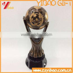 2015 Hot sales Cheap Polyresin/Resin Sport Trophy Cup,Factory Direct price Foot ball award trophy
