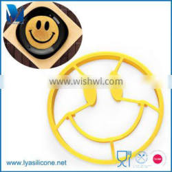 BPA Free Non-stick Silicone Pancakge Mold Smile Shape Fried Egg Ring