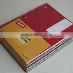 closeout 1-subject notebooks wide ruled 6pcs pack