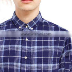 plaid business dress shirts for men formal shirts long sleeves 100%cotton fabric