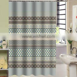 2016 Hot design High quality 100% polyester shower curtain for hotel, family, waterproof bath curtain