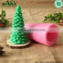 LZ0005 Nicole Christmas Tree Silicone Candle Mould Making Tools Decorating