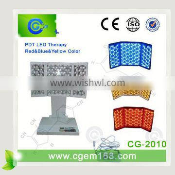 led skin therapy machine Photo Dynamic red yellow blue light therapy