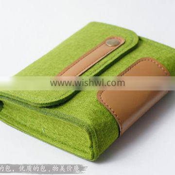 Grey Felt Soft Eyeglasses &Sunglasses Protective Roll Up Case Pouch