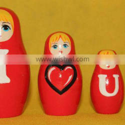 Love Style Nesting Wooden Doll I Love You Set Russian Dolls To Buy Cool Nesting Dolls Wooden Natural Toys Set 3 pc
