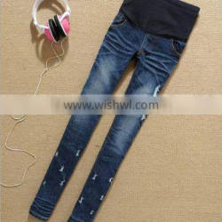 W10294G 2015 wholesale cheap maternity clothing jeans