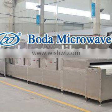 High efficiency continuous type microwave heater for box lunch