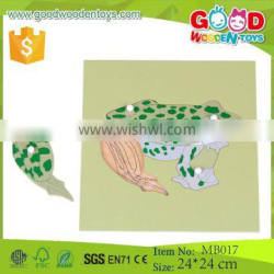Wooden Games Puzzle Frog Skeleton Puzzle Educational Teaching aids Kids Montessori Biology