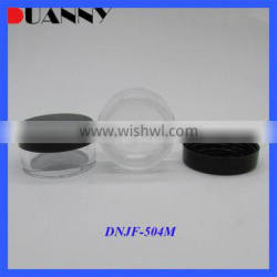 High Quality Eco-Friendly Empty Cream Colorful Container,10Ml Black Cosmetic As Jars Plastic