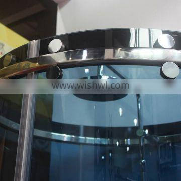 Round curved glass sliding door/sliding shower door with curved glass(KT8104) Quality Choice