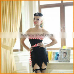 Striped pirate outfit sey uniform European and American girls game Uniform suit Halloween Costume