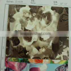 pearl shiny glossy flower printed pattern pu leather for making bags artificial pu leather