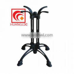 Cast iron legs, black paint, wrought iron dining tables, western restaurant table leg, Dining-room furniture