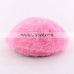 Pink cute lovely girl hats children caps wool pearl hat caps