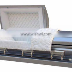 Lincoln silver stainless steel metal casket made in china