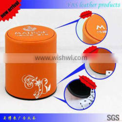 new arrival custom leather dice cup and dice tray for promotion