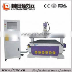 CNC Router cut round wood 1300x2500mm wood carving machine for aluminum copper