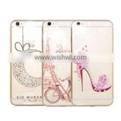 New Arrival Colored Painting Diamond Soft TPU Case for iPhone 6 6S Plus