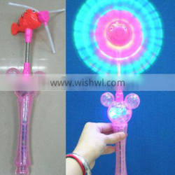 light up colorful light windmill with mickey handle