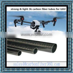 High Strong Drone 3K Carbon Pipe Tubes, Carbon fiber Tube for UAV RC Drones