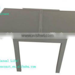 GT-009 aluminum Outdoor square extendable table glass top